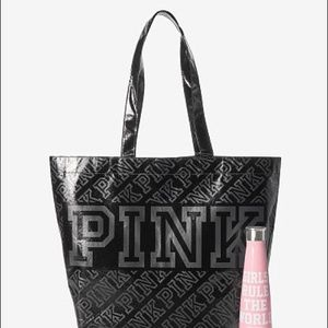 Victoria's Secret Pink Tote And s'well bottle